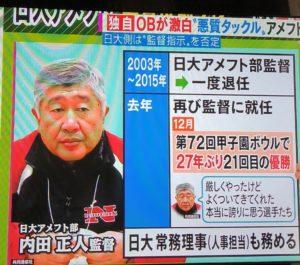 日大アメフト部 内田正人監督とは、プロフィール