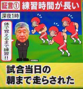 日大、内田正人監督の練習はパワハラ?練習の特徴